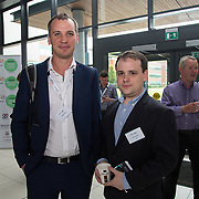 31.08. 2017.                                   <br /> Leaders in the pharmaceutical manufacturing sector in Ireland gathered at University of Limerick today for the third annual Pharmaceutical Manufacturing Technology Centre (PMTC) Knowledge Day.<br /> <br /> Pictured at the event were, Laurent Perge, PMTC and Dr. Orest Shadt, Bernal.<br /> <br /> The event provided a showcase for the cutting-edge research supported by the centre with key note addresses from industry thought leaders who shared their vision of the future for the pharmaceutical sector. Picture: Alan Place