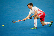 Adam Dixon. England v Malaysia - 3rd/4th Playoff - Hockey World League Semi Final, Lee Valley Hockey and Tennis Centre, London, United Kingdom on 25 June 2017. Photo: Simon Parker