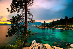 """Sunset at Lake Tahoe 44"" - Photograph of a sunset at Lake Tahoe, just north of Sand Harbor."