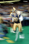 Defensive Back Kim Herring (20) of the St. Louis Rams runs out during introductions at the start of a 15 to 14 win over the New York Giants on 10/14/2001..©Wesley Hitt/NFL Photos