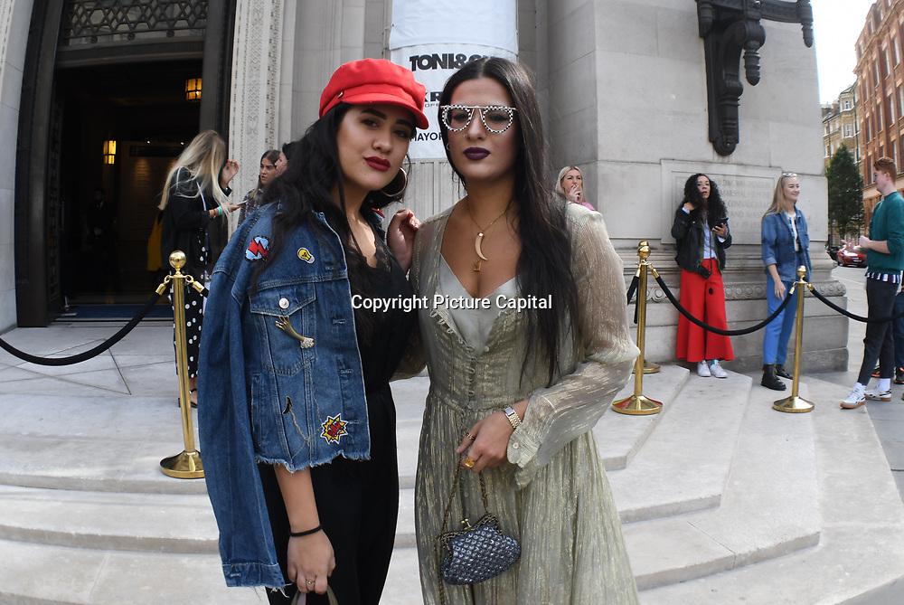 Constantina Savva wearing Alain Milkli glasses attend the Fashion Scout - SS19 Day 1, London, UK 14 September 2018.