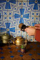 Maroc, Tanger, maison de the dans la Medina  // Morocco, Tangier (Tanger), tea house, old city