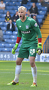 Robert Lainton organizes his defence during the Sky Bet League 1 match between Bury and Port Vale at Gigg Lane, Bury, England on 19 September 2015. Photo by Mark Pollitt.