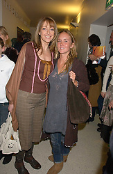Left to right, actress SHARON MAUGHAN and LAUREN EVANS at a concert by Charlotte Gordon Cumming in aid of Tusk held at the National Geographical Society, 1 Kensington Gore, London SW7 on 16th March 2006.<br /><br />NON EXCLUSIVE - WORLD RIGHTS