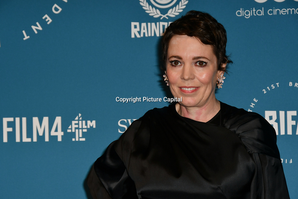 Olivia Colman Arrivers at The 21sh British Independent Film Awards at 1 Old Billingsgate Walk on 21 December 2018, London, UK.