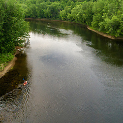 The Merrimack River as it flows through Boscawen and Northfield, New Hampshire.