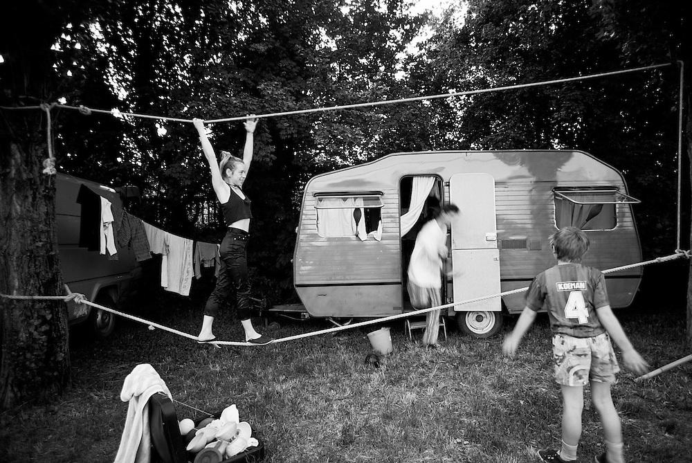 11 JUN 1997 - Mestre (VE) - Circo Bidone - Amelie, Hervé e Thomas