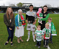 Yeovil Town's Liam Sheppard poses with his award - Photo mandatory by-line: Harry Trump/JMP - Mobile: 07966 386802 - 25/04/15 - SPORT - FOOTBALL - Sky Bet League One - Yeovil Town v Port Vale - Huish Park, Yeovil, England.