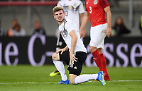 FUSSBALL  INTERNATIONAL TESTSPIEL  IN KLAGENFURT Oesterreich - Deutschland      02.06.2018 Timo Werner (Deutschland) am Boden