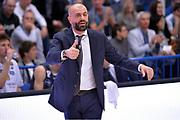 Maurizio Buscaglia<br /> Dolomiti Energia Aquila Basket Trento - Banco di Sardegna Dinamo Sassari<br /> Lega Basket Serie A 2016/2017<br /> Trento, 08/04/2017<br /> Foto Ciamillo - Castoria