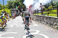 David De La Cruz - Etixx Quick Step - 28.05.2015 - Tour d'Italie - Etape 18 : Melide / Verbania <br />Photo : Pool / Sirotti / Icon Sport