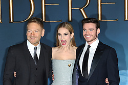 © Licensed to London News Pictures. 19/03/2015, UK. Sir Sir Kenneth Branagh, Lily James, Richard Madden, Cinderella - UK film premiere, Leicester Square, London UK, 19 March 2015. Photo credit : Richard Goldschmidt/Piqtured/LNP