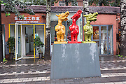 Public avant-garde sculpture at the 798 Art Zone in Beijing, China