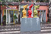 Public avant-garde sculpture at the 798 Art Zone in Beijing, China