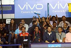 September 2, 2017 - Kolkata, West Bengal, India - Kolkata Owner Akshay Kumar claps at the  Pro Kabaddi Lucknow v Kolkata  at Netaji Indoor Stadium on September 02,2017 in Kolkata, India. (Credit Image: © Debajyoti Chakraborty/NurPhoto via ZUMA Press)