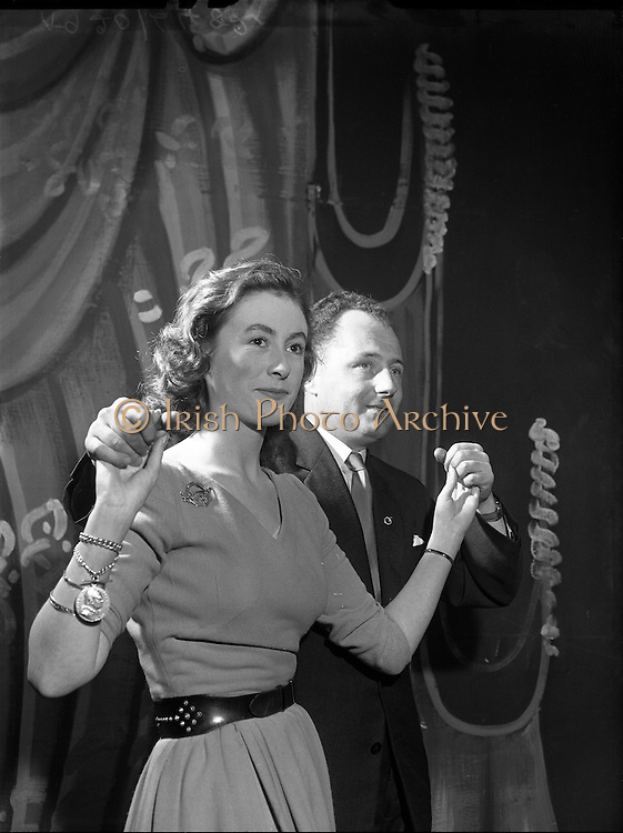 Two dancers at Abbey Theatre, Pearse St - For Gael Linn .28/01/1959 .