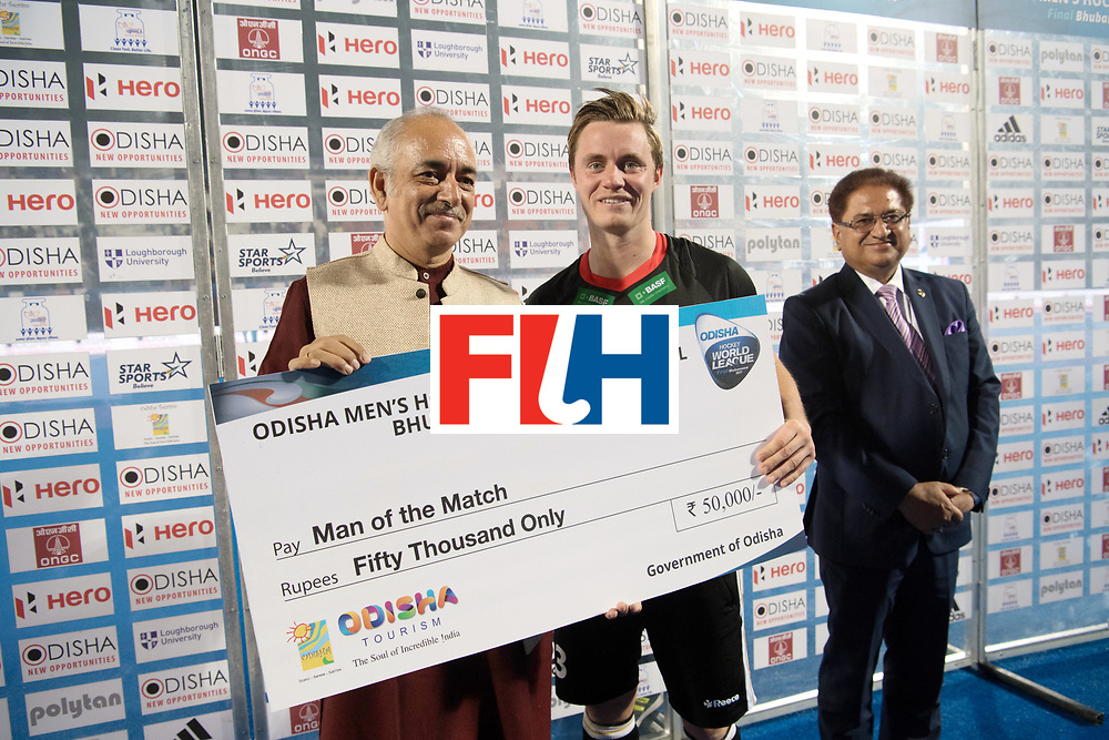 Odisha Men's Hockey World League Final Bhubaneswar 2017<br /> Match id:10<br /> India v Germany<br /> Foto: Best player off the match Matts Grambusch.<br /> WORLDSPORTPICS COPYRIGHT FRANK UIJLENBROEK