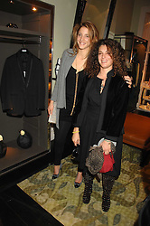 Left to right, sisters COUNTESS ANNA DE PAHLEN and GINEVRA ELKANN at a party hosted by Allegra Hicks to launch Lapo Elkann's fashion range in London held at Allegra Hicks, 28 Cadogan Place, London on 14th November 2007.<br />