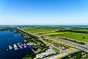 Nederland, Utrecht, Loosdrecht, 29-06-2018; Baambrugse Zuwe en Vinkenveense plassen, A2. <br /> <br /> luchtfoto (toeslag op standard tarieven);<br /> aerial photo (additional fee required);<br /> copyright foto/photo Siebe Swart