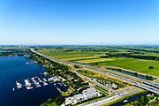Nederland, Utrecht, Loosdrecht, 29-06-2018; Baambrugse Zuwe en Vinkenveense plassen, A2. <br /> <br /> luchtfoto (toeslag op standard tarieven);<br /> aerial photo (additional fee required);<br /> copyright foto/photo Siebe Swart