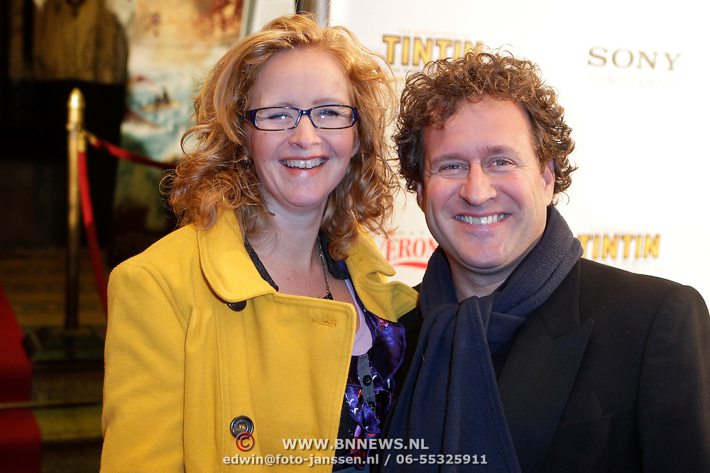 NLD/Amsterdam/20111024 - Premiere The Adventures of Tintin, Hilke Bierman en partner thijs van Aken