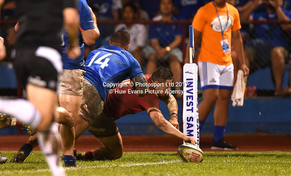 23.06.17 - Samoa v Wales -<br /> Steff Evans of Wales scores his second try.<br /> Copyright photo: Ben Evans / www.photosport.nz