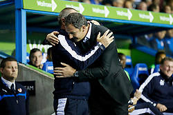 Derby County Manager, Paul Clement greets Reading Manager, Steve Clarke - Mandatory by-line: Jason Brown/JMP - Mobile 07966 386802 15/09/2015 - SPORT - FOOTBALL - Reading, Madejski Stadium - Reading v Derby County - Sky Bet Championship