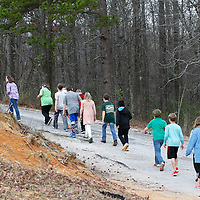 Thomas Wells | Buy at PHOTOS.DJOURNAL.COM<br /> Students enjoy a brisk walk around the campus of Saltillo Elementary whie listening to a podcast that have a variety of subjects ranging from science to language arts.