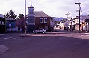 Quiet street in town centre on Sunday morning, Port Antonio, Jamaica, West Indies in 1990