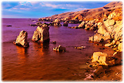 Sea stacks and rocky coastline at Soberanes Point, Garrapata State Park, Big Sur, California