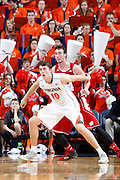 CHARLOTTESVILLE, VA - DECEMBER 4: Mike Tobey #10 of the Virginia Cavaliers fights for position against the Wisconsin Badgers during the Big Ten/ACC Challenge game at John Paul Jones Arena on December 4, 2013 in Charlottesville, Virginia. Wisconsin won 48-38. (Photo by Joe Robbins) *** Local Caption *** Mike Tobey