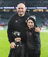 Rugby Union - 2019 Killick Cup - Barbarians vs. Fiji<br /> <br /> Barbarians Captain, Rory Best with his 2 children, at Twickenham.<br /> <br /> COLORSPORT/ANDREW COWIE