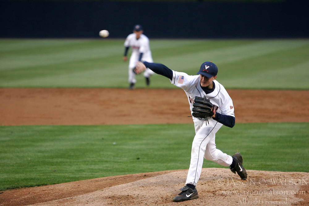 Pitcher Shooter Hunt (11) pitched 4 innings for the Wahoos against Richmond.  UVA won the game 8-3.