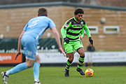 Forest Green Rovers Reuben Reid(26) runs forward during the EFL Sky Bet League 2 match between Forest Green Rovers and Coventry City at the New Lawn, Forest Green, United Kingdom on 3 February 2018. Picture by Shane Healey.