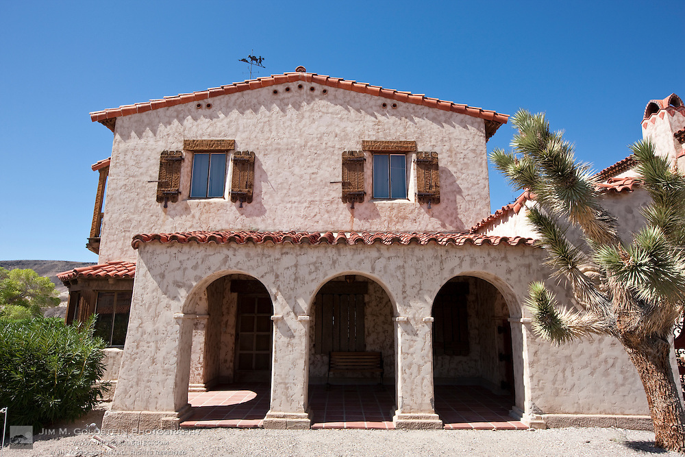 Side entrance of Scotty's Castle - Death Valley National Park, California