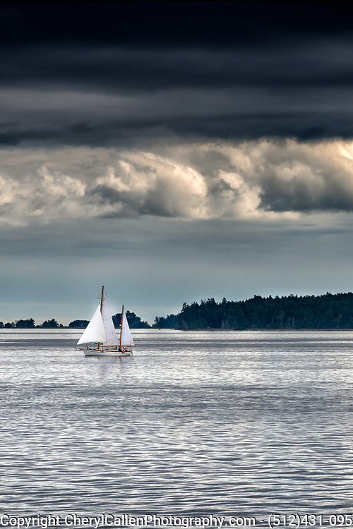 Sailboat on Vancouver Island
