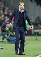 Football - 2016 / 2017 Premier League - West Ham United vs. Stoke City<br /> <br /> West Ham Manager Slaven Bilic at The London Stadium.<br /> <br /> COLORSPORT/DANIEL BEARHAM