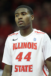 16 December 2012:  Johnny Hill during an NCAA men's basketball game between the Morgan State Bears and the Illinois State Redbirds (Missouri Valley Conference) in Redbird Arena, Normal IL