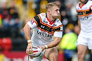 Bradford Bulls hooker Sam Hallas (29) in action  during the Kingstone Press Championship match between Dewsbury Rams and Bradford Bulls at the Tetley's Stadium, Dewsbury, United Kingdom on 10 September 2017. Photo by Simon Davies.