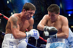 July 22, 2006 - Arturo Gatti and Carlos Baldomir trade punches during their 12 round fight for the WBC Welterweight Championship at Boardwalk Hall in Atlantic City, NJ. Baldomir retained his title via 9th round KO.