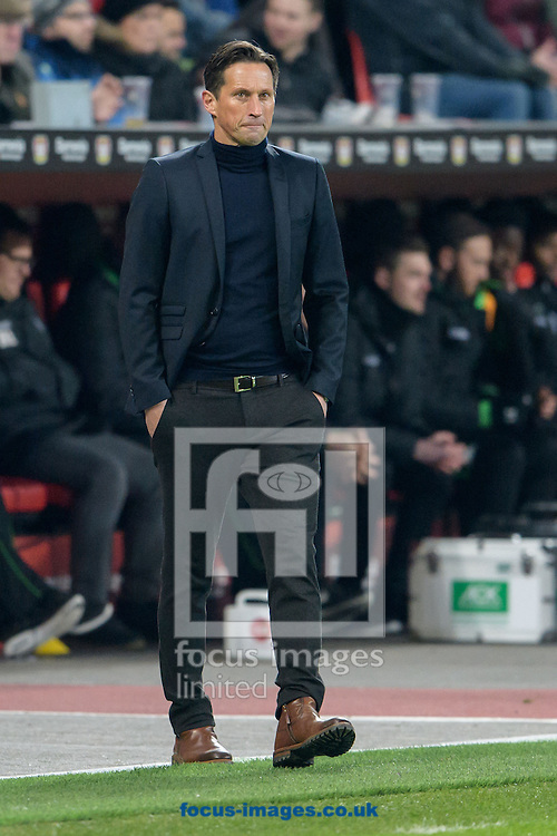 Roger Schmidt, head coach of Bayer Leverkusen during the Bundesliga match at BayArena, Leverkusen<br /> Picture by EXPA Pictures/Focus Images Ltd 07814482222<br /> 28/01/2017<br /> *** UK &amp; IRELAND ONLY ***<br /> <br /> EXPA-EIB-170129-0040.jpg
