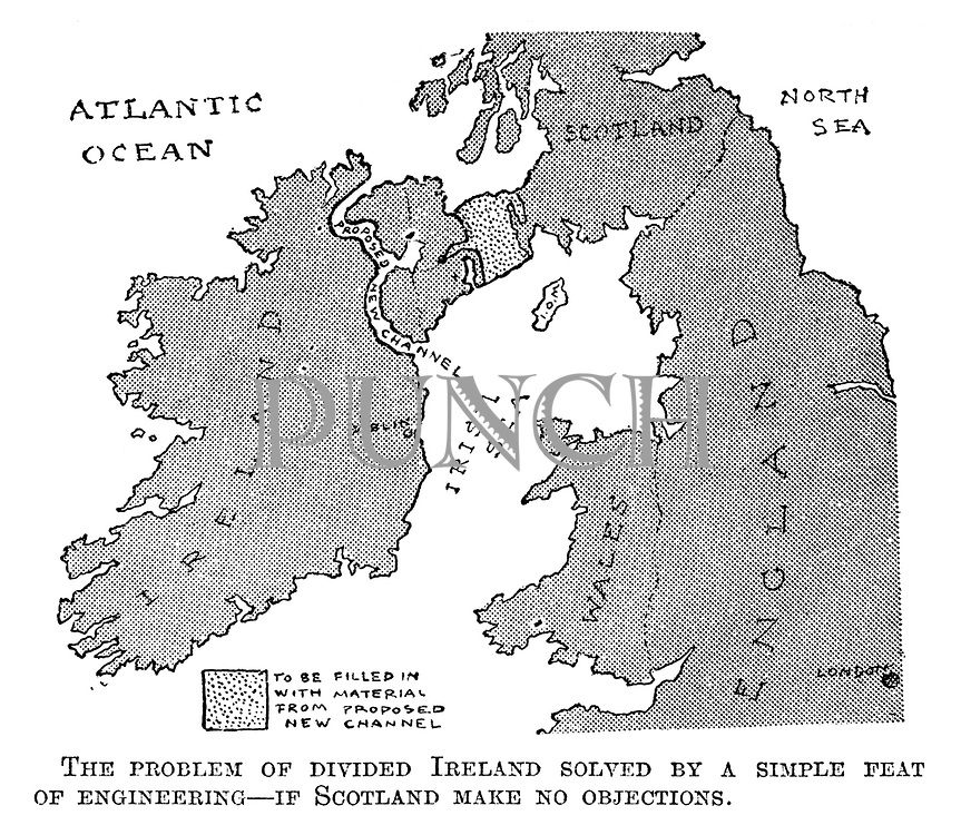 The problem of divided Ireland solved by a simple feat of engineering - of Scotland make no objections.