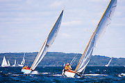 Surprise and Pirate, Herreshoff S Class, sailing in the Museum of Yachting Classic Yacht Regatta.