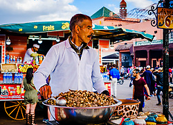 Snails cooking at a food stall in the Jemaa El Fna, Marrakech, Morocco<br /> <br /> (c) Andrew Wilson   Edinburgh Elite media