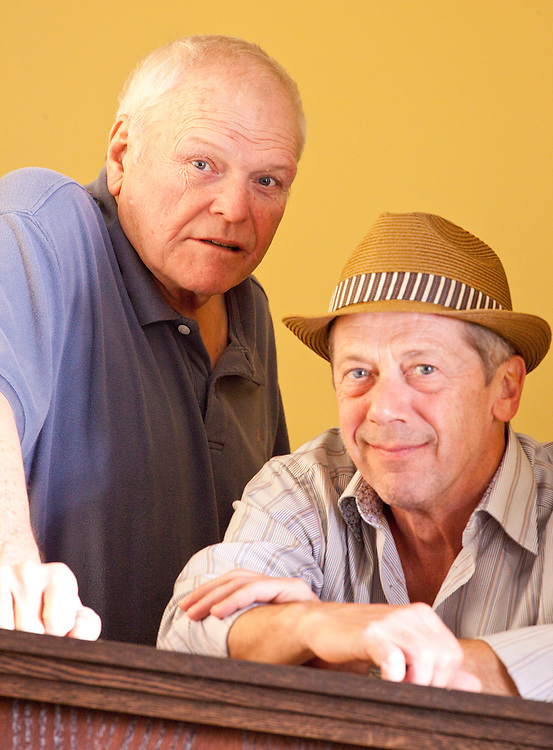 Stratford, Ontario ---11-08-02--- Actors Brian Dennehy, left, and Stephen Ouimette share the stage in the Stratford Festival's productions of 12th Night and The Homecoming this season.<br /> GEOFF ROBINS The Globe and Mail