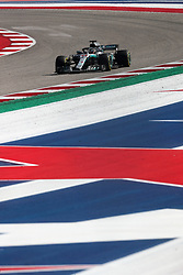 October 21, 2018 - Austin, TX, U.S. - AUSTIN, TX - OCTOBER 21: Mercedes driver Lewis Hamilton (44) of Great Britain races through turn 18 during the F1 United States Grand Prix on October 21, 2018, at Circuit of the Americas in Austin, TX. (Photo by John Crouch/Icon Sportswire) (Credit Image: © John Crouch/Icon SMI via ZUMA Press)