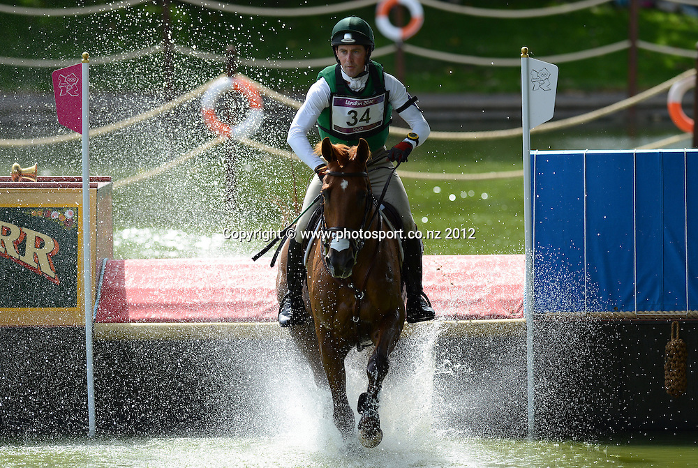 Ireland's Joseph Murphy on Electric Cruise during the Eventing Cross Country. Equestrian at Greenwich Park. Olympic Games, London. United Kingdom. Monday 30 July 2012. Photo: Andrew Cornaga / Photosport.co.nz