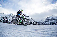 Leander Borg of Namibia during stage 2 and 3 of the first Snow Epic, the ascent and decent of Brunni Hütte near Engelberg, in the heart of the Swiss Alps, Switzerland on the 16th January 2015<br /> <br /> Photo by:  Nick Muzik / Snow Epic / SPORTZPICS