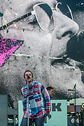 Pilton, Somerset, UK. 29th June 2019. Liam Gallagher plays the Pyramid Stage - The 2019 Glastonbury Festival, Worthy Farm, Glastonbury.