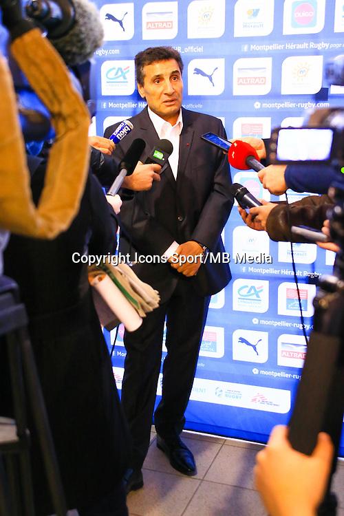 Mohed ALTRAD - 30.12.2014 - Conference de presse - Montpellier<br /> Photo : Guyonnet / Icon Sport